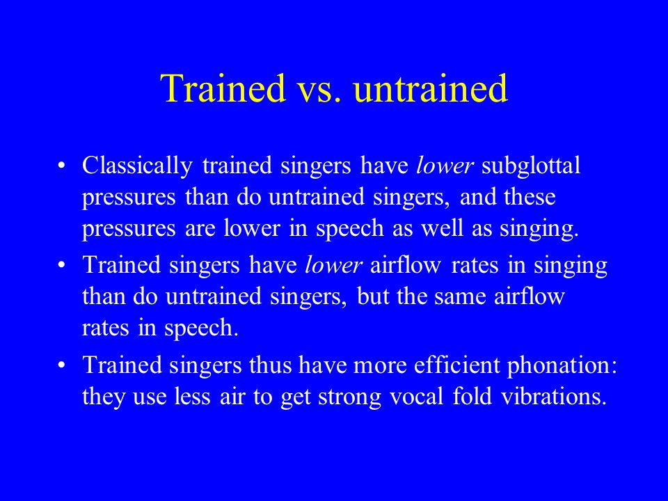 Trained vs. untrained