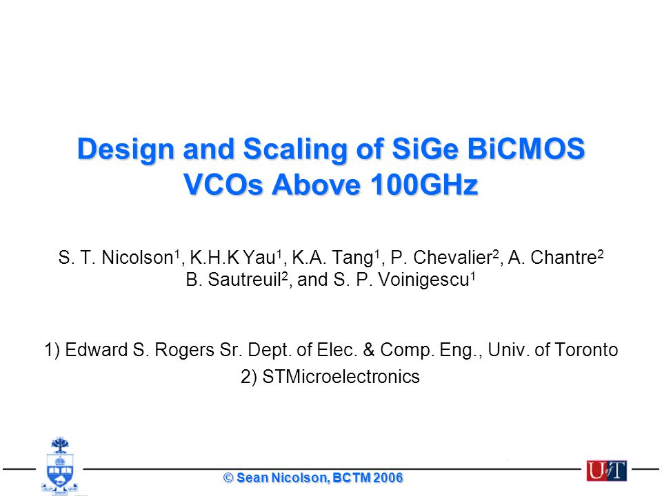 Design and Scaling of SiGe BiCMOS VCOs Above 100GHz