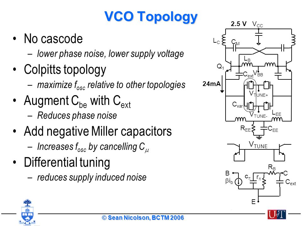 Add negative Miller capacitors Differential tuning