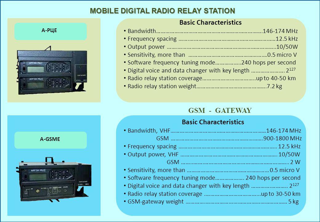 MOBILE DIGITAL RADIO RELAY STATION