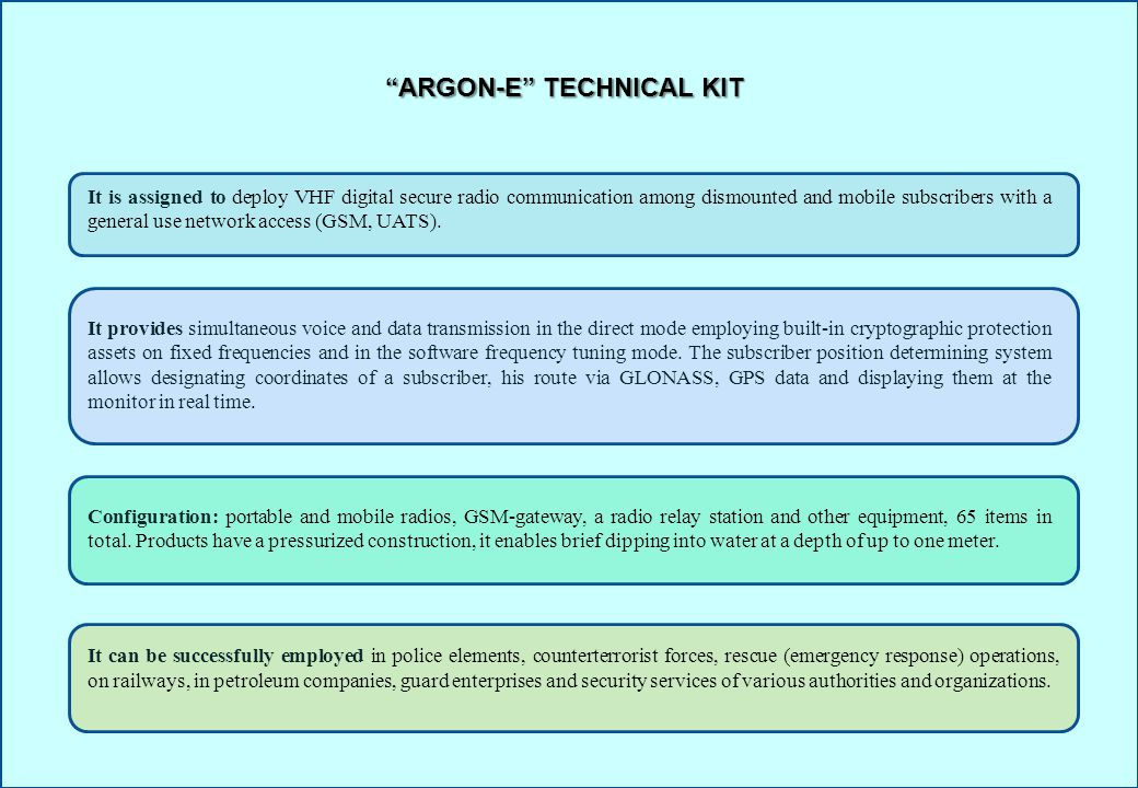 ARGON-E TECHNICAL KIT
