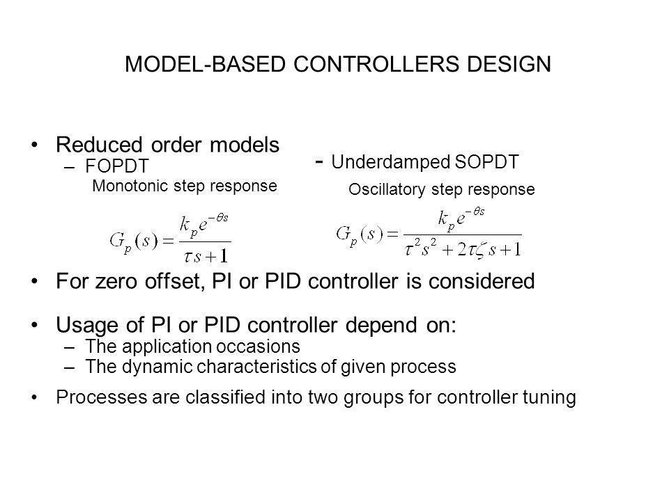 MODEL-BASED CONTROLLERS DESIGN