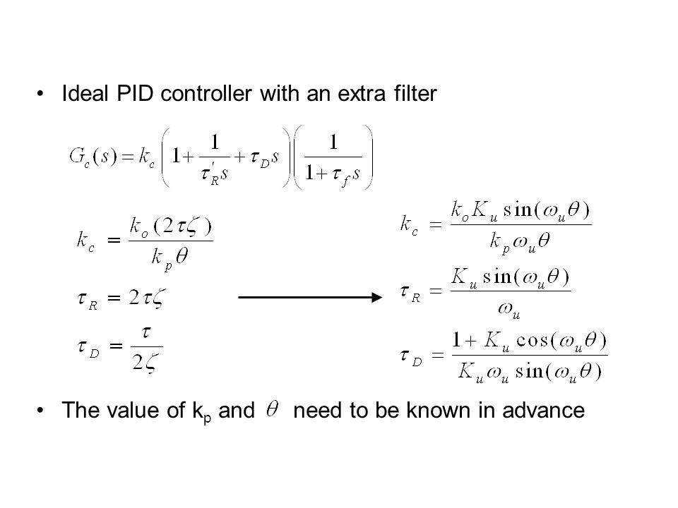 Ideal PID controller with an extra filter