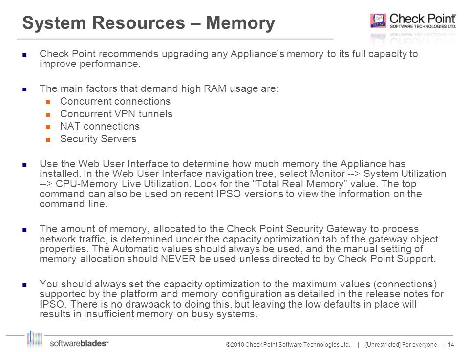 System Resources – Memory