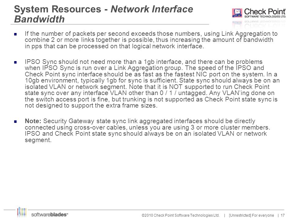 System Resources - Network Interface Bandwidth