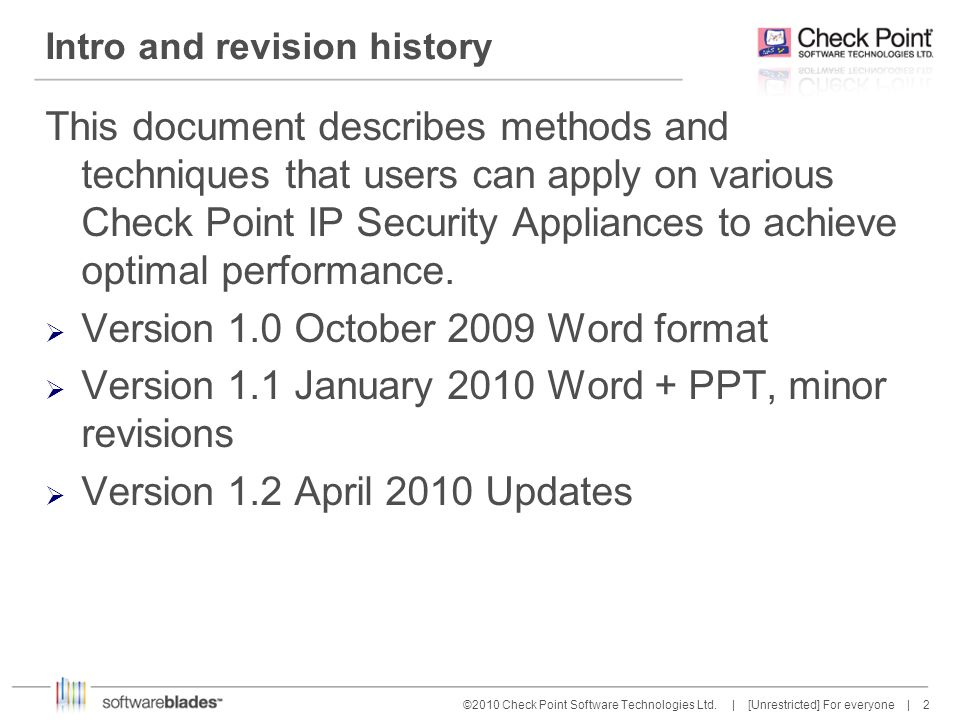 Intro and revision history