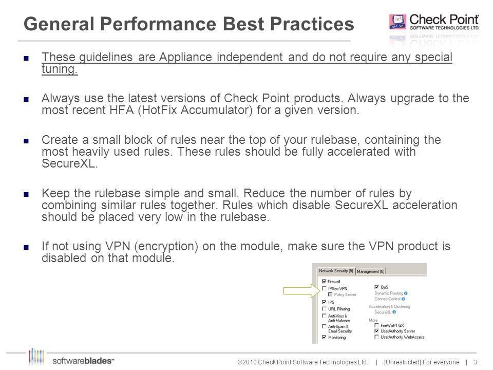 General Performance Best Practices