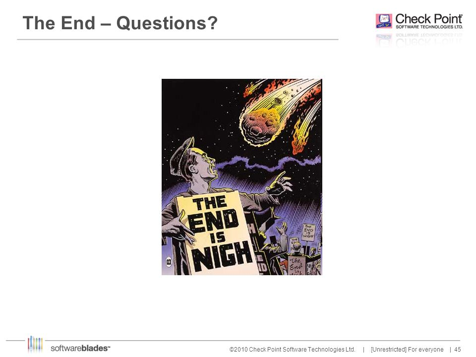 The End – Questions