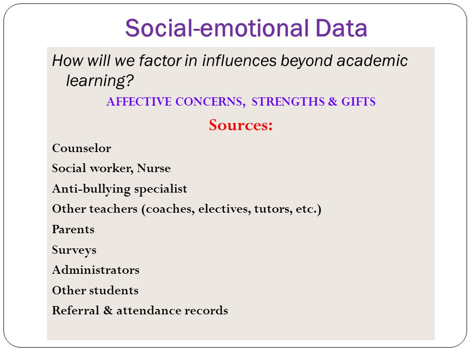 Social-emotional Data
