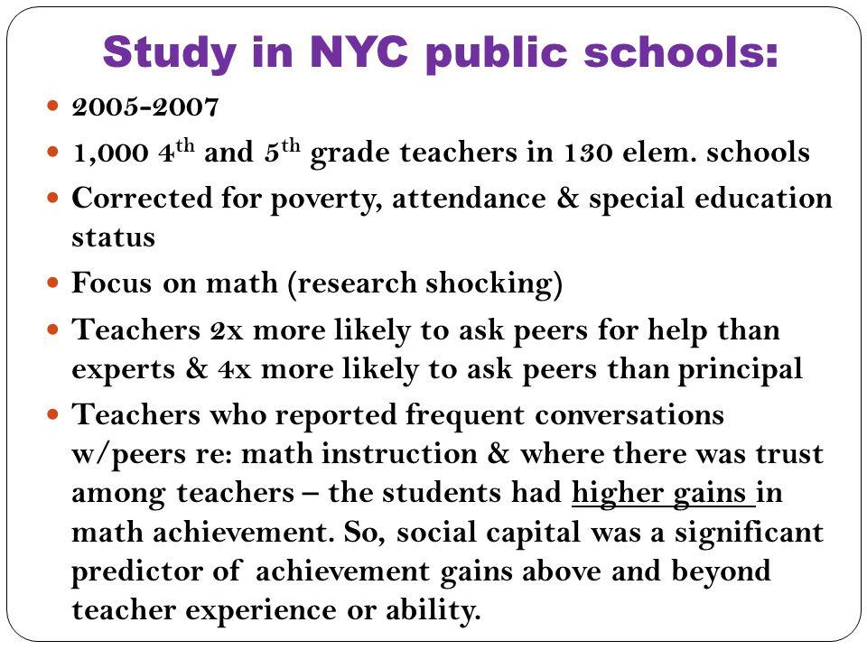 Study in NYC public schools: