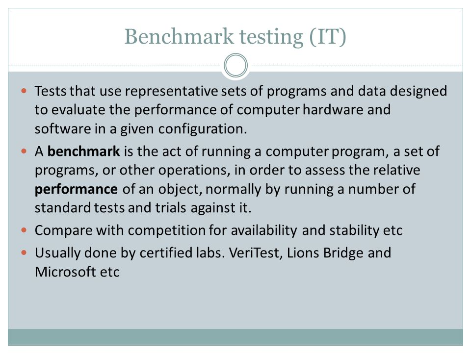 Benchmark testing (IT)