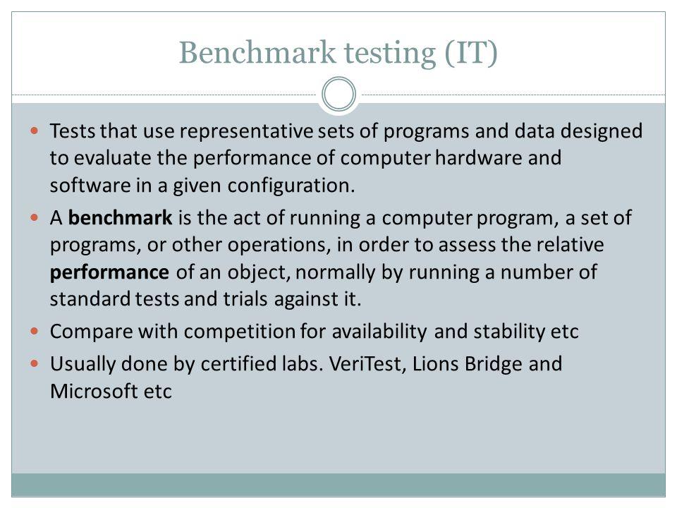 Benchmark testing (IT)