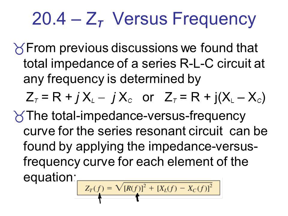ZT = R + j XL  j XC or ZT = R + j(XL – XC)