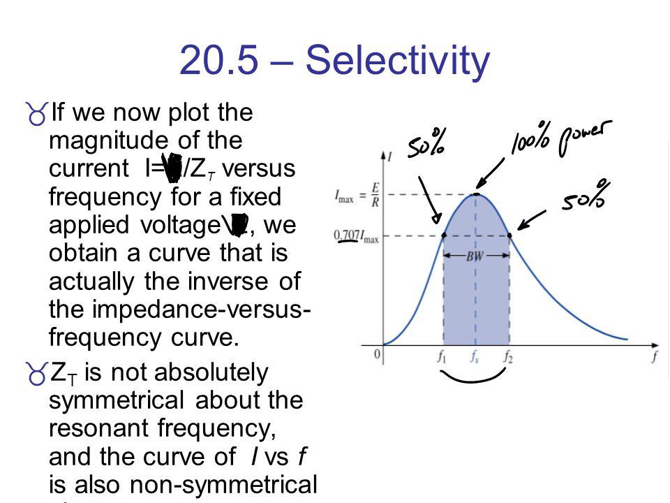 20.5 – Selectivity