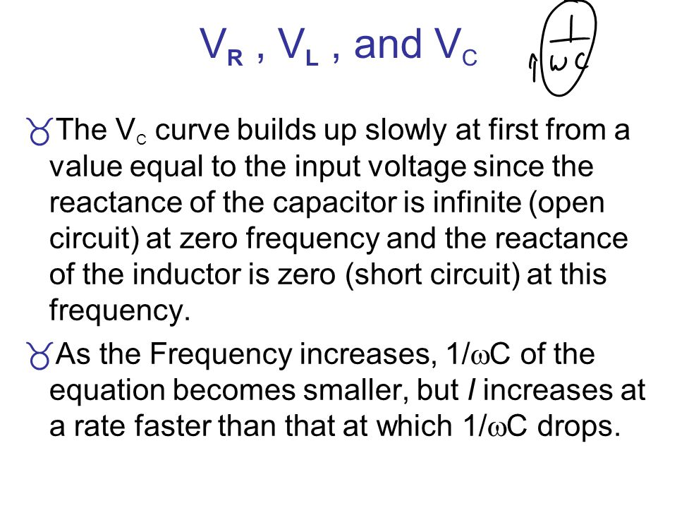 VR , VL , and VC