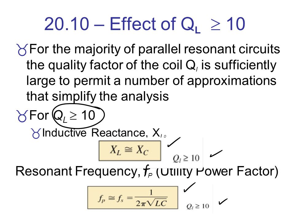 20.10 – Effect of QL  10