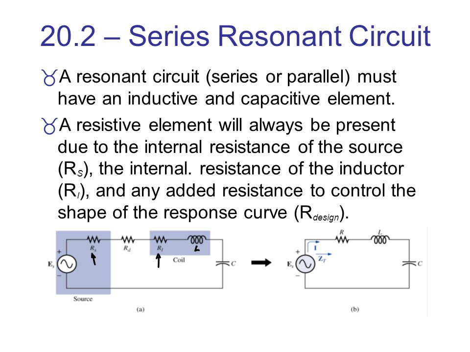 20.2 – Series Resonant Circuit