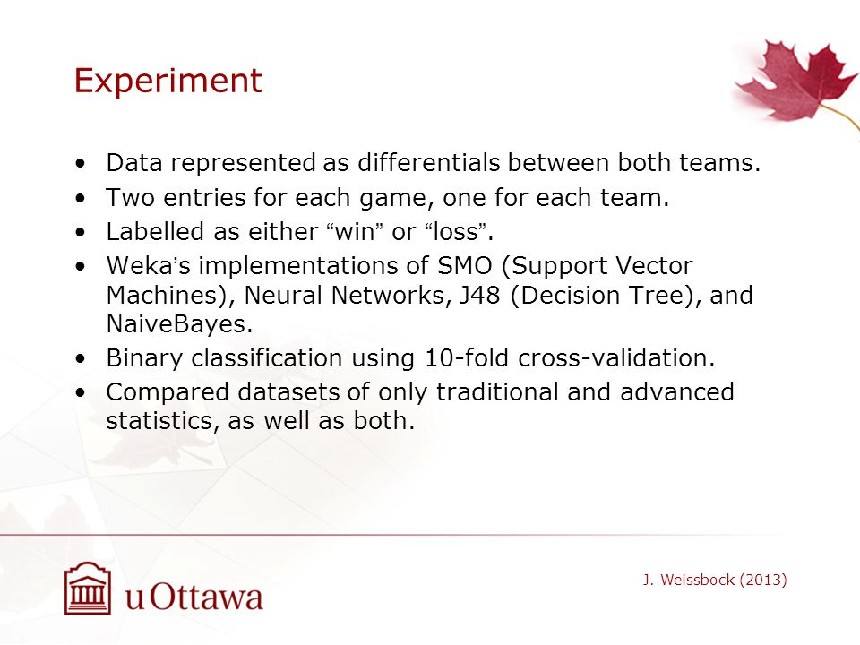 Experiment Data represented as differentials between both teams.