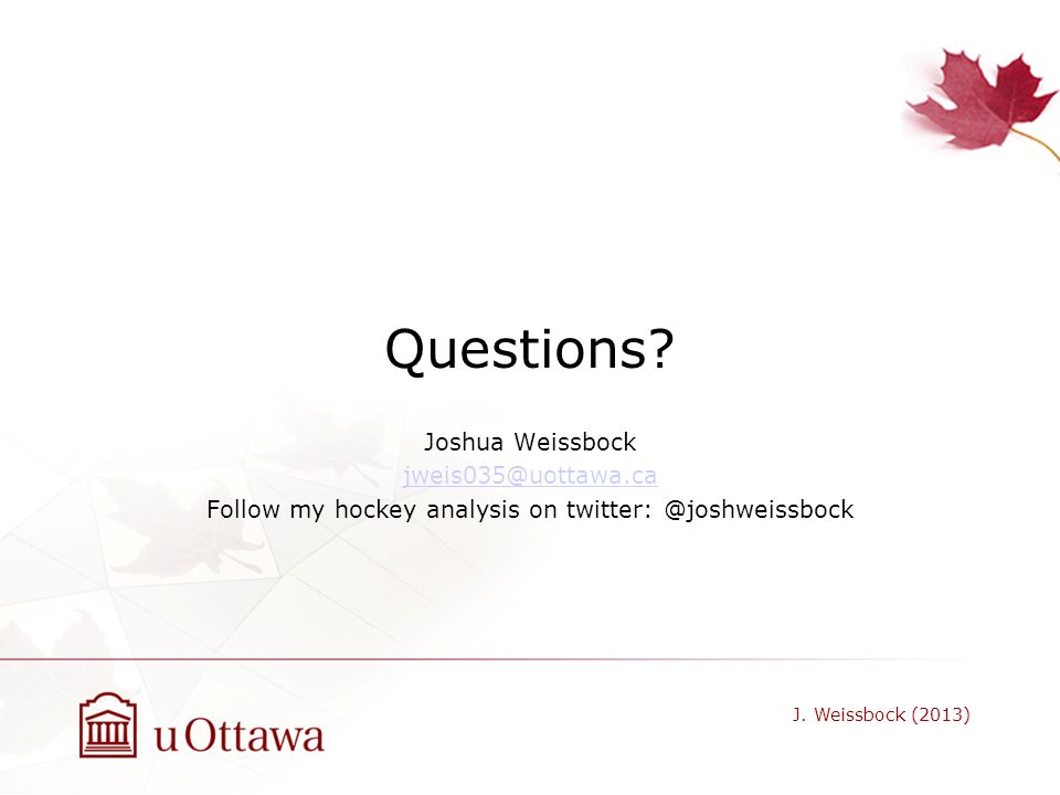 Follow my hockey analysis on twitter: @joshweissbock