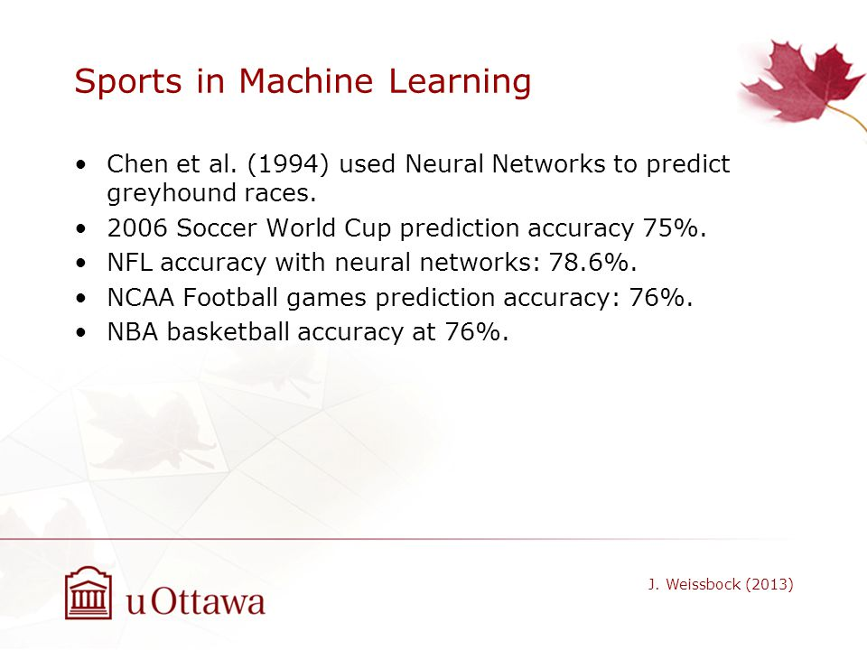 Sports in Machine Learning