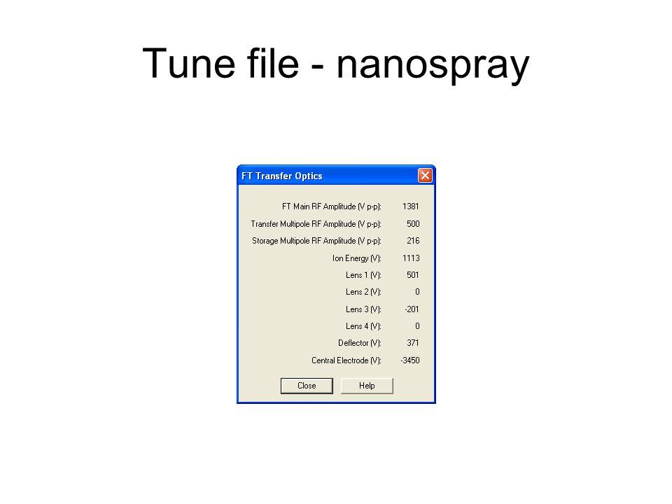 Tune file - nanospray