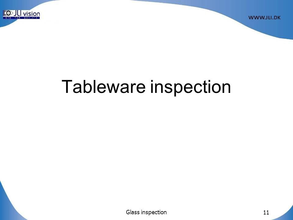 Tableware inspection