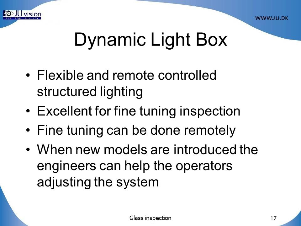 Dynamic Light Box Flexible and remote controlled structured lighting