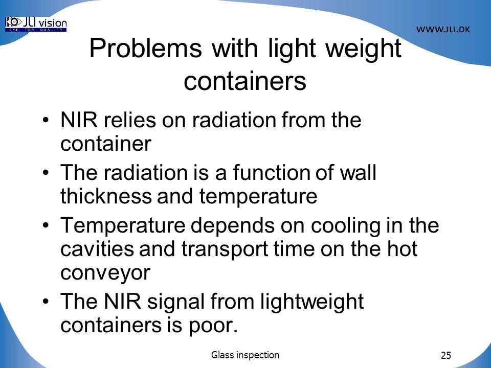 Problems with light weight containers