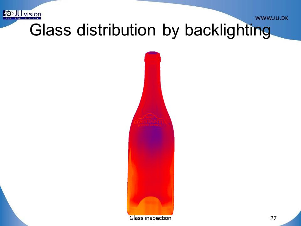 Glass distribution by backlighting