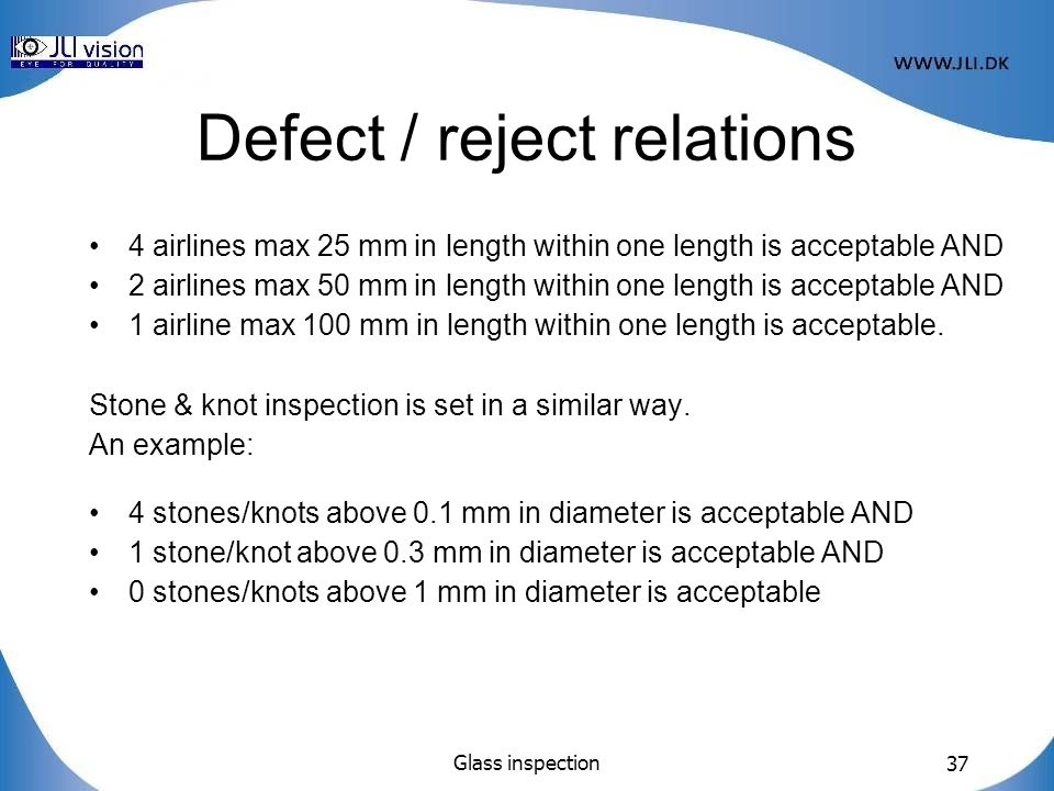 Defect / reject relations