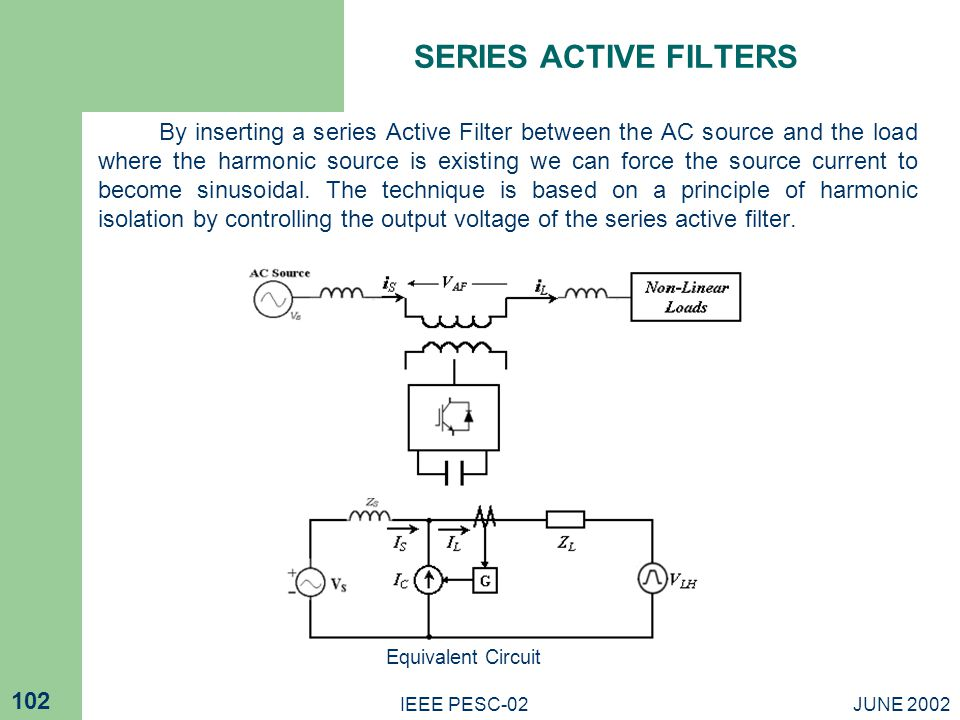 SERIES ACTIVE FILTERS