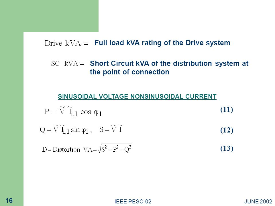 SINUSOIDAL VOLTAGE NONSINUSOIDAL CURRENT