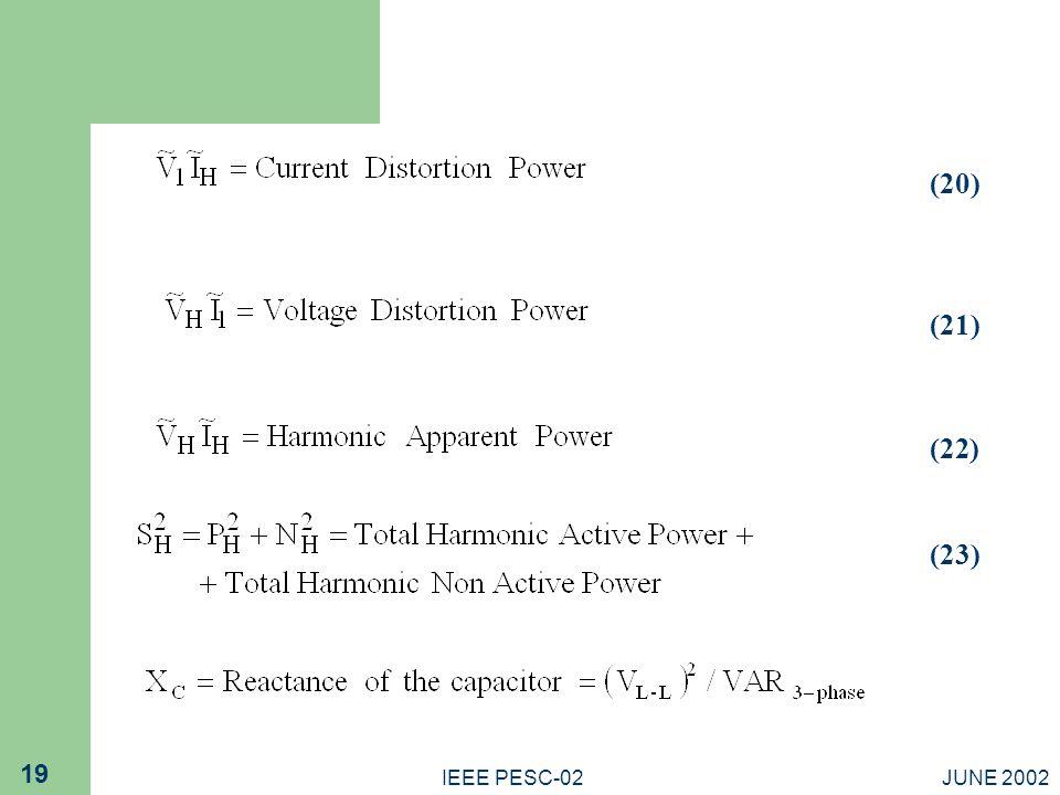 (20) (21) (22) (23) IEEE PESC-02 JUNE 2002