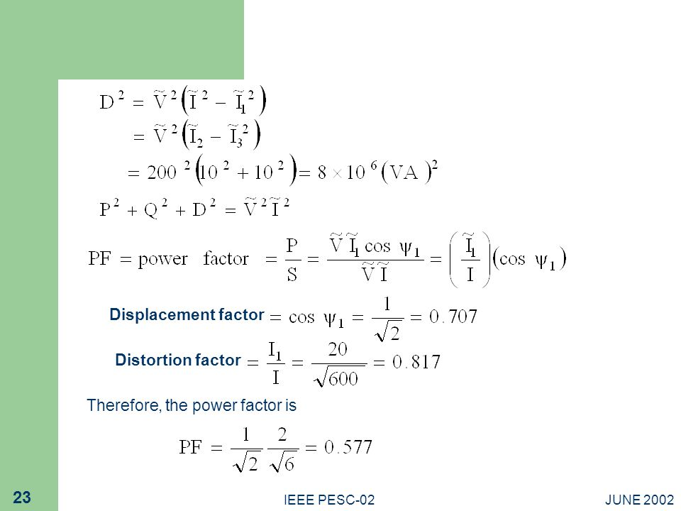 Therefore, the power factor is