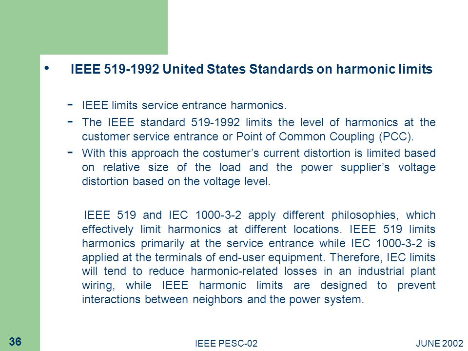 Harmonic treatment in industrial power systems ppt download for Ieee definition