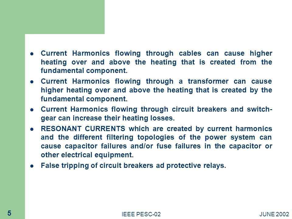 False tripping of circuit breakers ad protective relays.