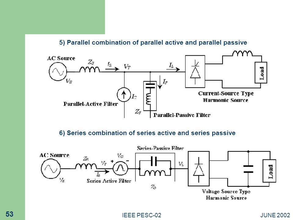 5) Parallel combination of parallel active and parallel passive