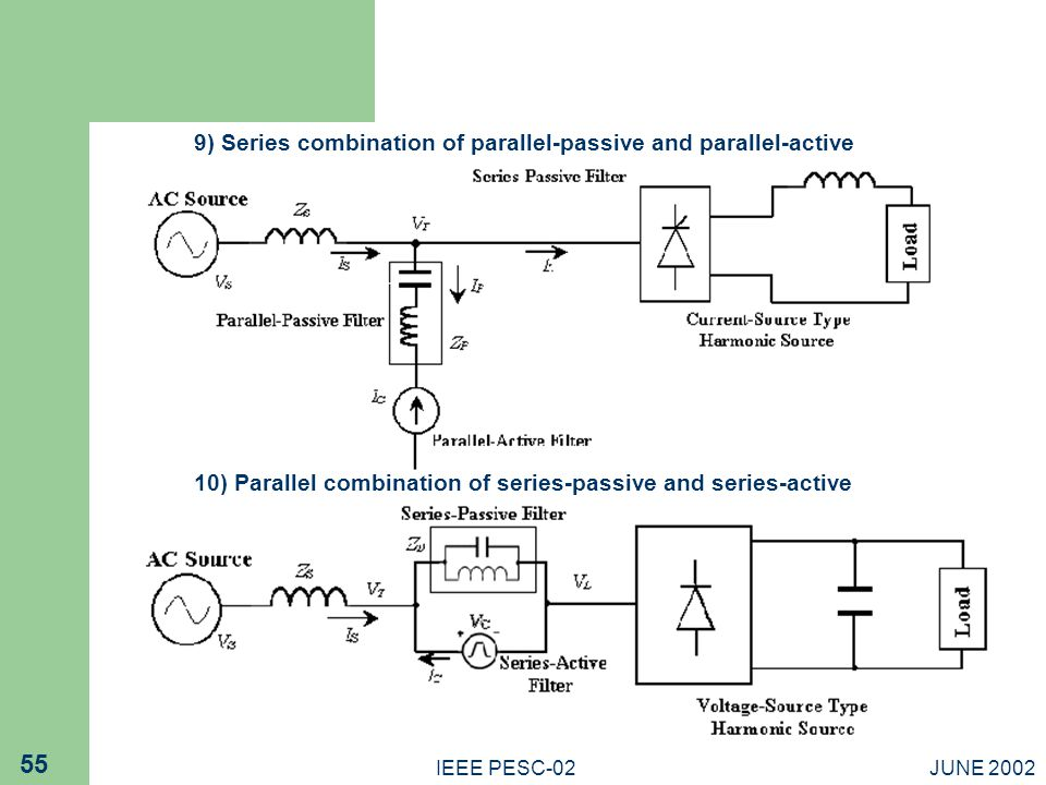 9) Series combination of parallel-passive and parallel-active