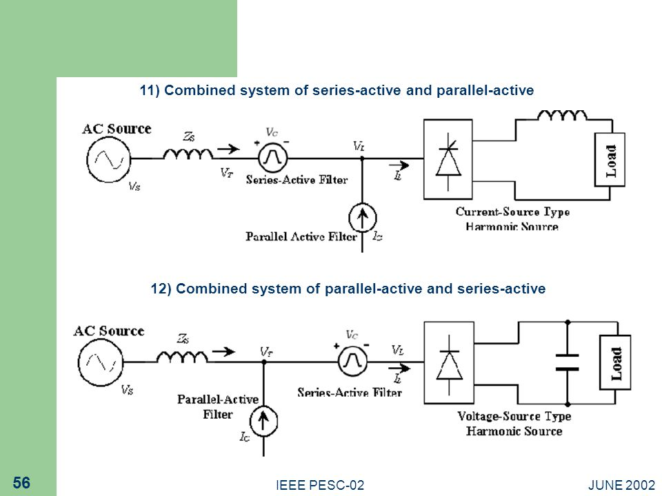 11) Combined system of series-active and parallel-active