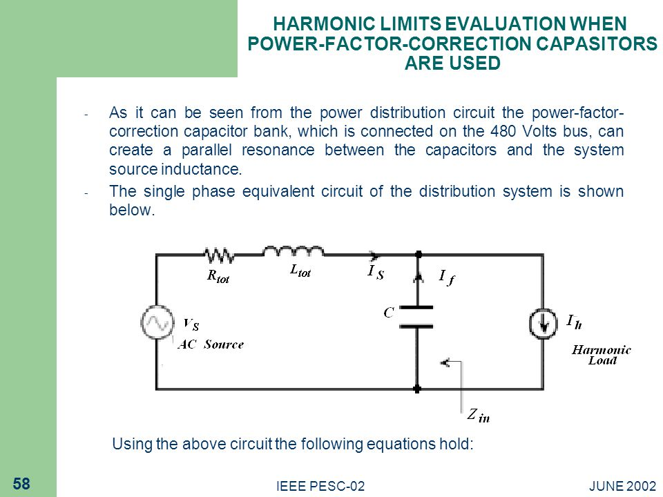 HARMONIC LIMITS EVALUATION WHEN POWER-FACTOR-CORRECTION CAPASITORS ARE USED