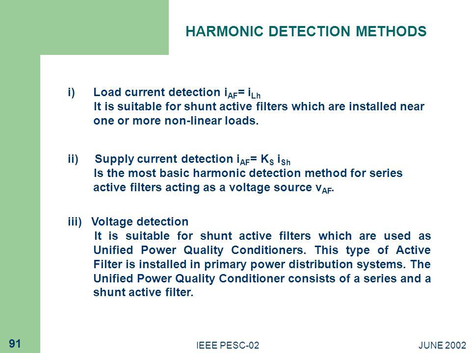 HARMONIC DETECTION METHODS