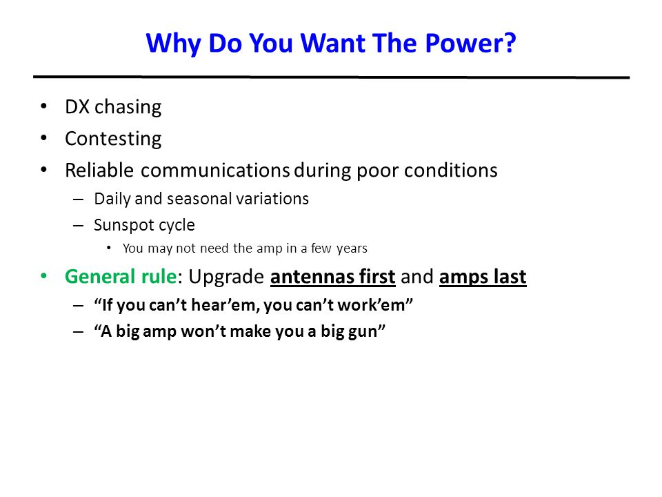 Why Do You Want The Power