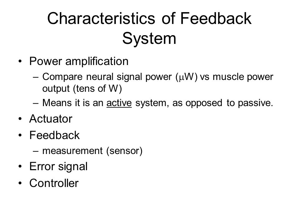 Characteristics of Feedback System