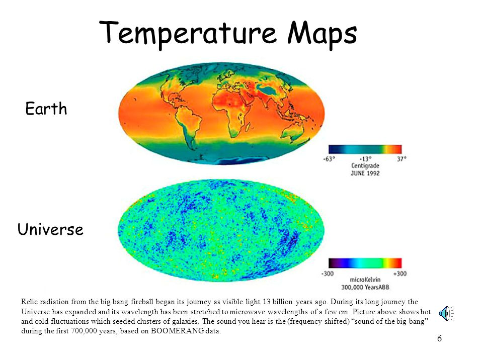 Temperature Maps Earth Universe