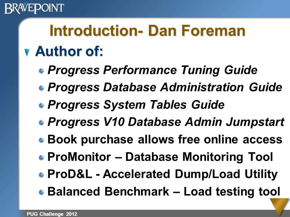 Introduction- Dan Foreman