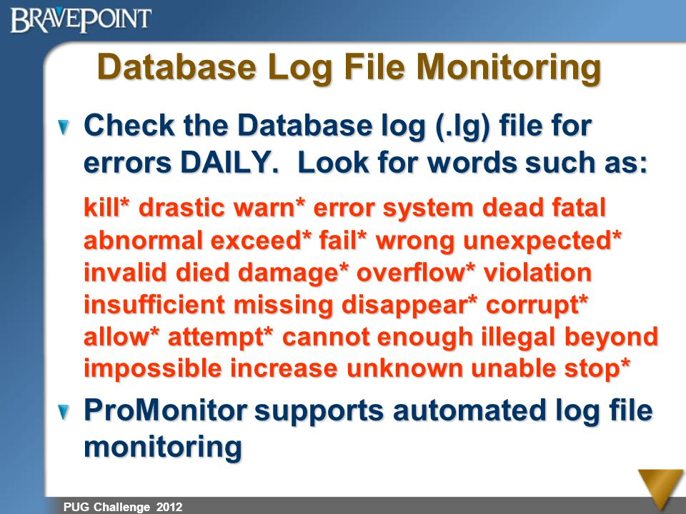 Database Log File Monitoring