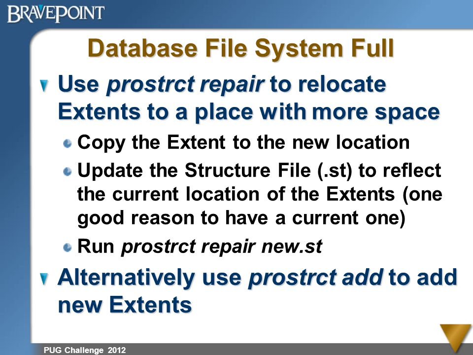 Database File System Full