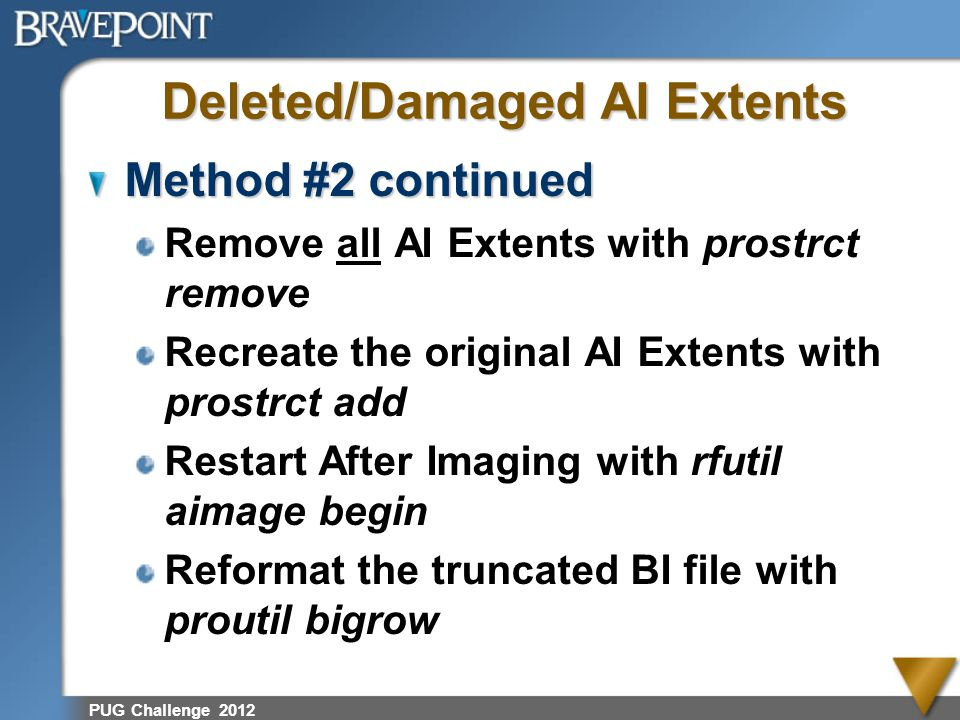 Deleted/Damaged AI Extents