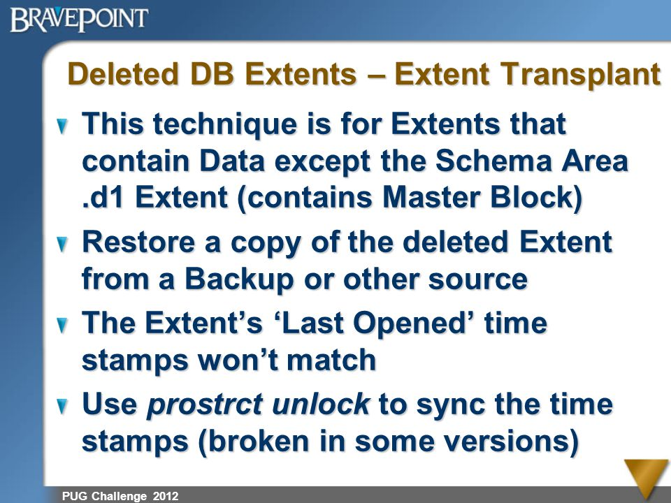 Deleted DB Extents – Extent Transplant