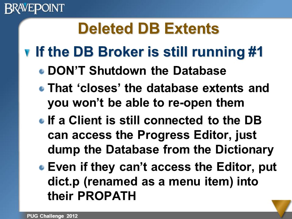 Deleted DB Extents If the DB Broker is still running #1